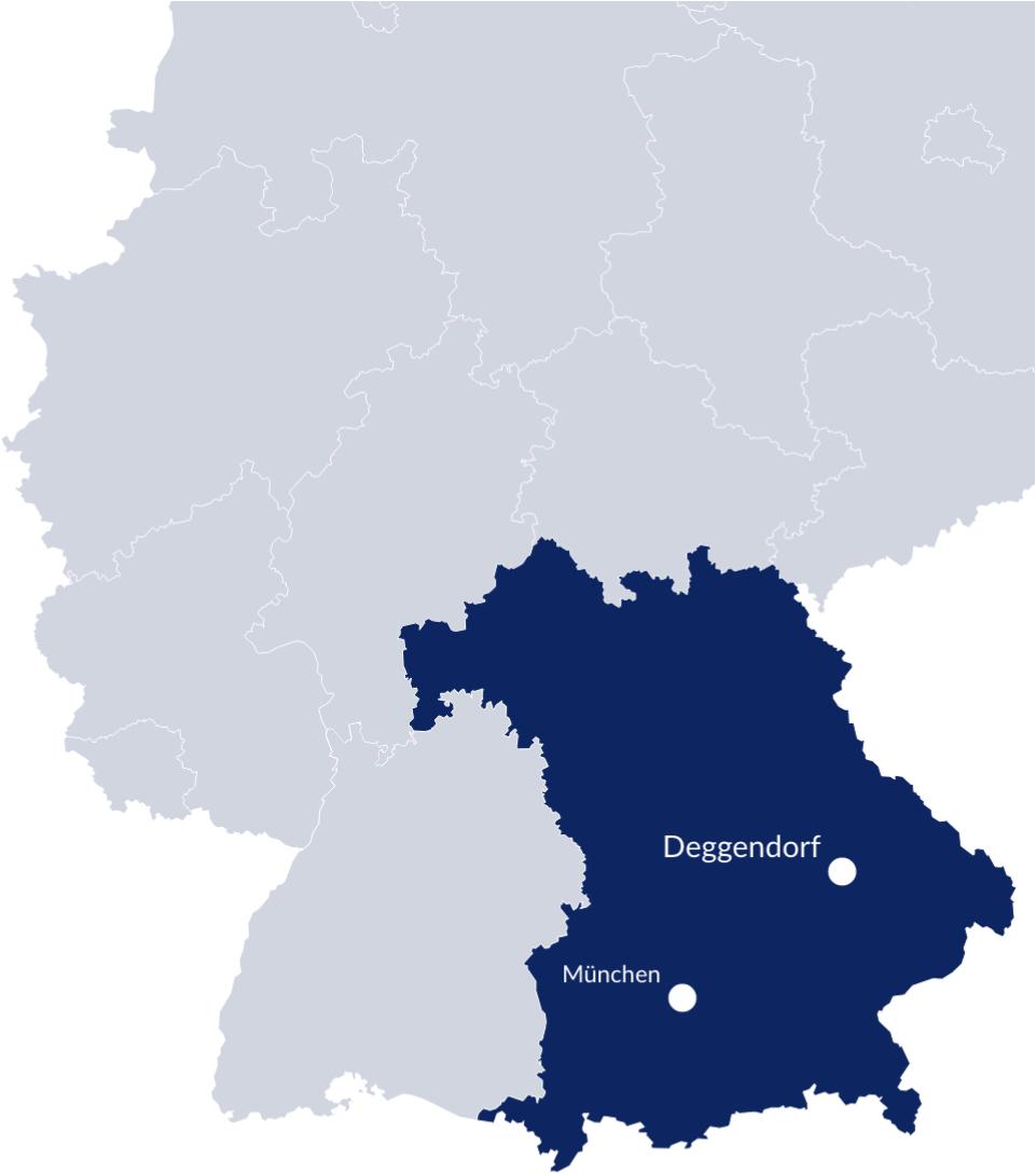Bayern-Karte Deutschland